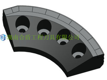 Side Scrapper Tbm Scrapper Tbm Tunneling Q345 42crmo Material Blue Color